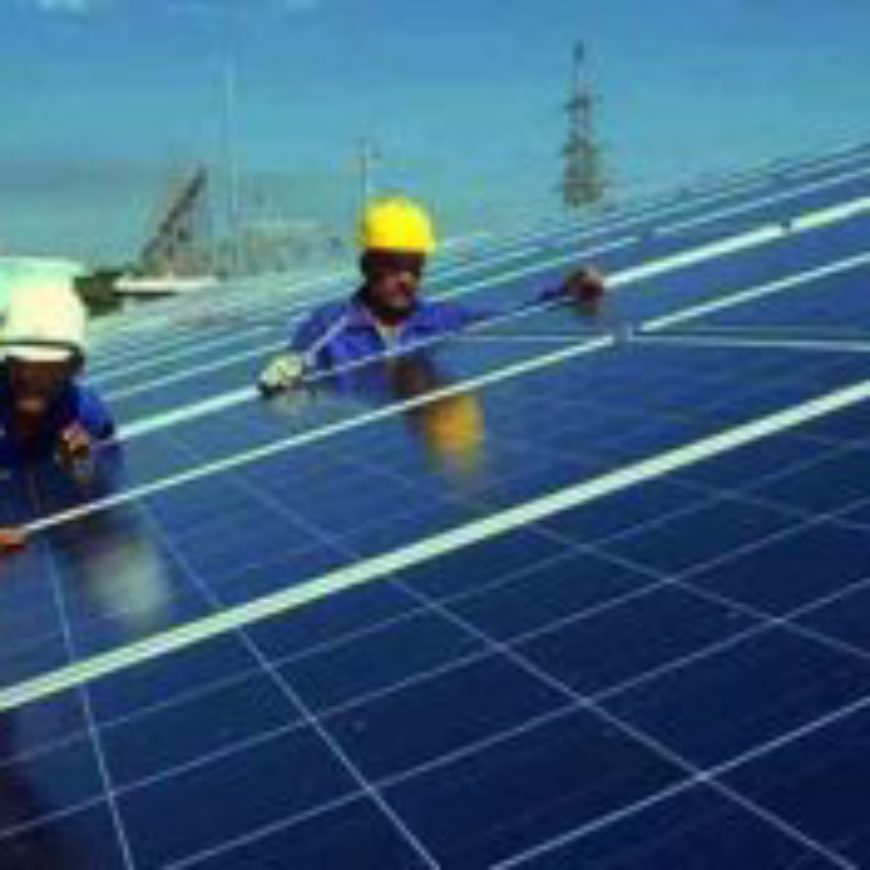 Tunisia: A photovoltaic power plant in Tozeur at the end of 2017